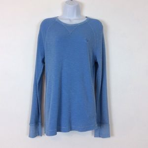 American Eagle Outfitters Waffle Weave Blue Shirt